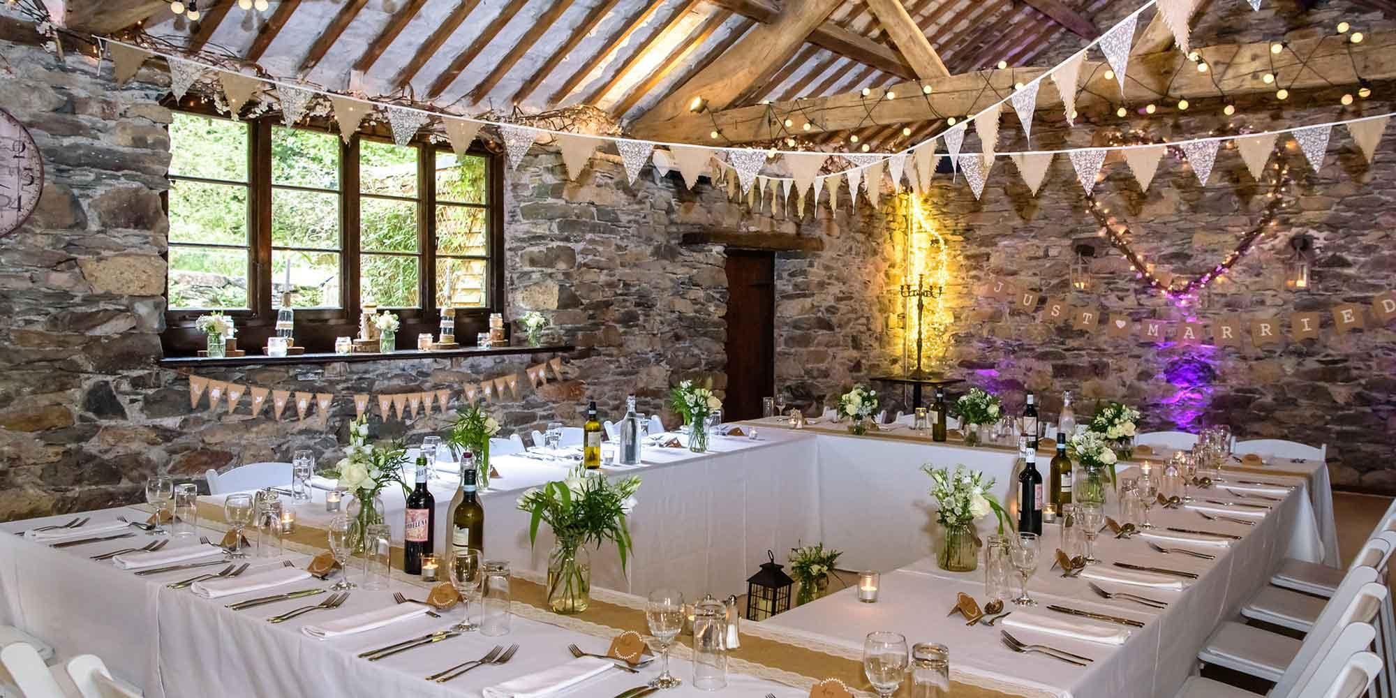 Small and Intimate Barn Wedding Venue